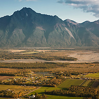 Pioneer Peak near Palmer.  Kris Hlebechuk, owner of Alaska Hot Air Balloons, at the Alaska State Fair