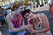Community zombie protest, London