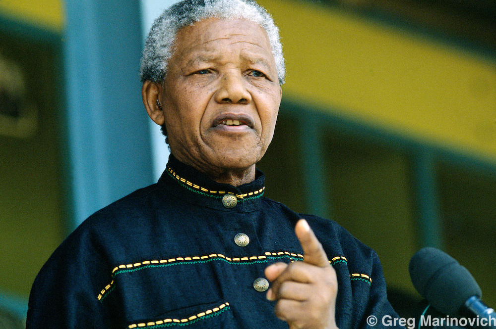 Nelson Mandela, Orlando Stadium, Soweto 1994
