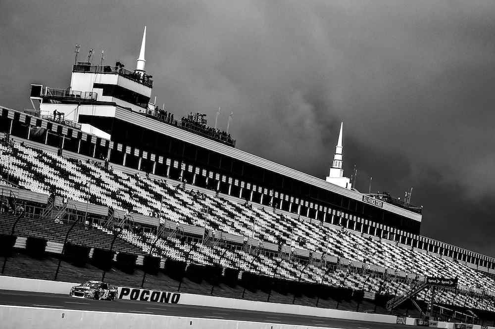 1-3 August, 2014, Long Pond, Pennsylvania USA<br /> Jeff Gordon passes the huge grandstand at Pocono Raceway<br /> &copy;2014, Scott R LePage <br /> LAT Photo USA