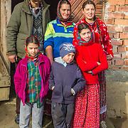 Family, Gypsy, traditional dress, Romania