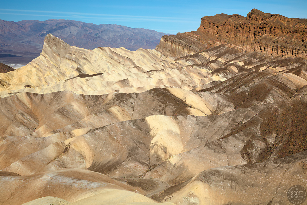 """""""Manly Beacon 1"""" - Photograph taken from Zabriskie Point of Manly Point in Death Valley, California."""