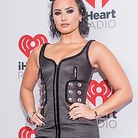 LAS VEGAS - SEP 18 : Singer/songwriter Demi Lovato attends the 2015 iHeartRadio Music Festival at the MGM Grand Garden Arena on September 18, 2015 in Las Vegas.