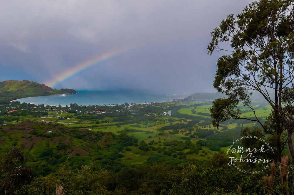 Rainbow over Hanalei Bay, Kauai, Hawaii