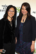 """21 April 2010- New York, NY- l to r: Theresa Chang and Gina Shay at The World Premiere of Dreamwork Animation's """" Shrek Forever After """" for the Opening Night of the 2010 Tribeca Film Festival held at the Zeigfeld Theater on April 21, 2010 in New York City."""