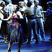"""WSU junior Amber Preston (front) plays the part of Anita in """"West Side Story"""" at the 2008 Arts Gala at Wright State University, Saturday, April 5, 2008."""