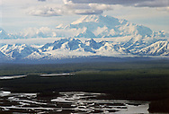 Mt McKinley, the highest mountain in North America.