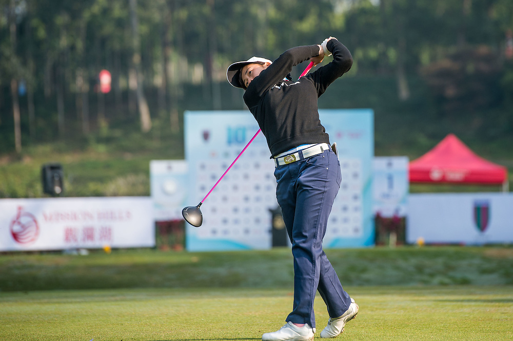 Suzuka Yamaguchi of Japan in action during day one of the 10th Faldo Series Asia Grand Final at Faldo course in Shenzhen, China. Photo by Xaume Olleros.