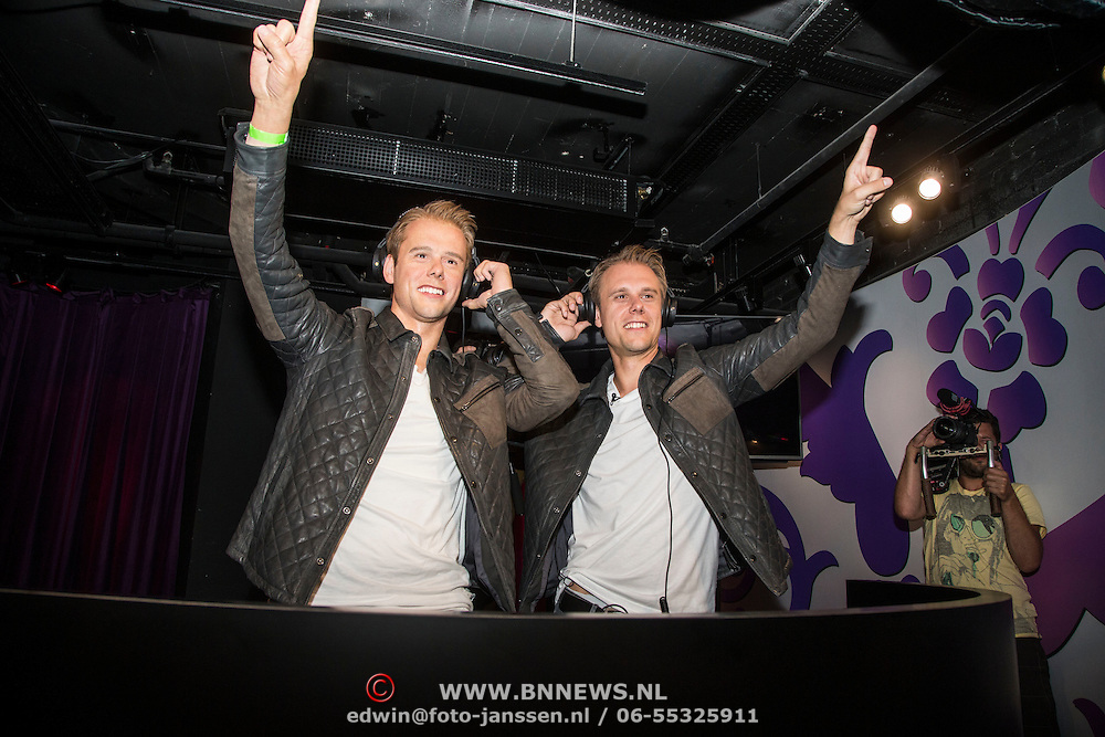 NLD/Amsterdam/20140612 - DJ Armin van Buuren onthult zijn wassen beeld bij madame Tussauds in Amsterdam<br /> <br /> NLD/Amsterdam/ 20140612 - DJ Armin van Buuren reveals his wax statue in amsterdam at Madame Tussauds
