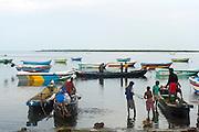 Fishermen on Jaffna lagoon.