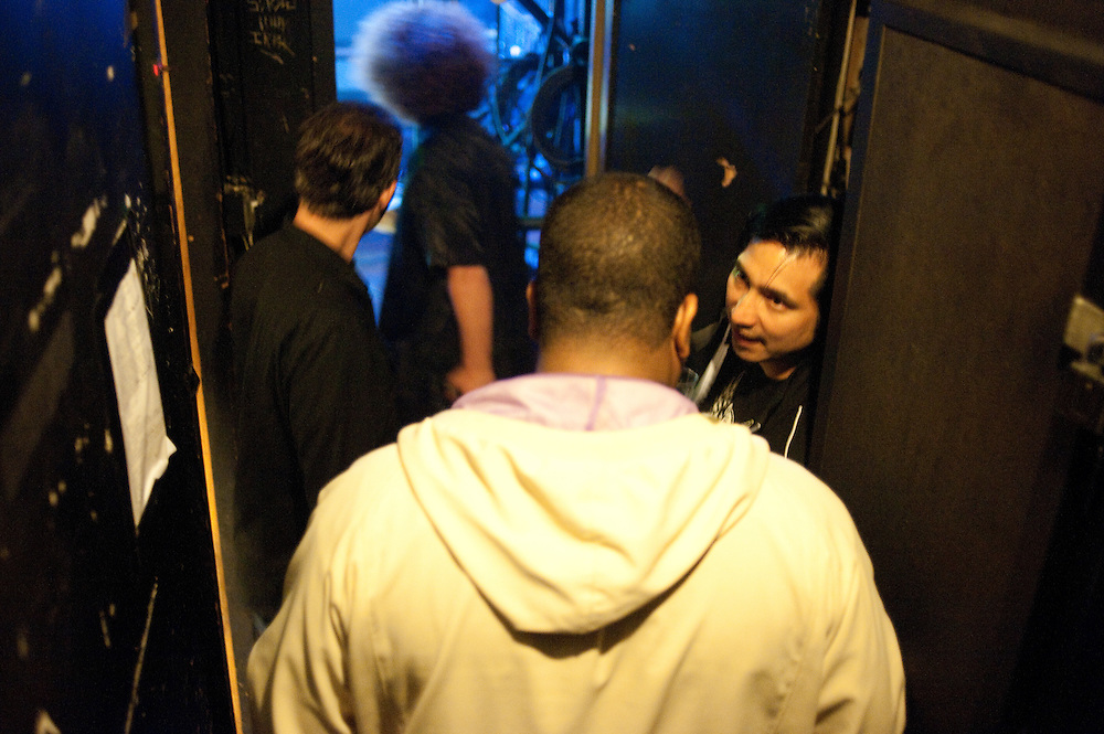 FK5, getting ready to take the stage, Webster Hall, NYC
