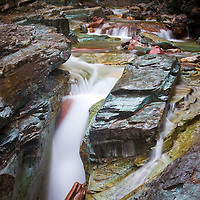 Waterfall near Saint Mary's Lake Glacier National Park