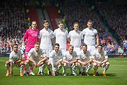 Falkirk's team. Falkirk v Inverness CT in the Scottish Cup final at Hampden.
