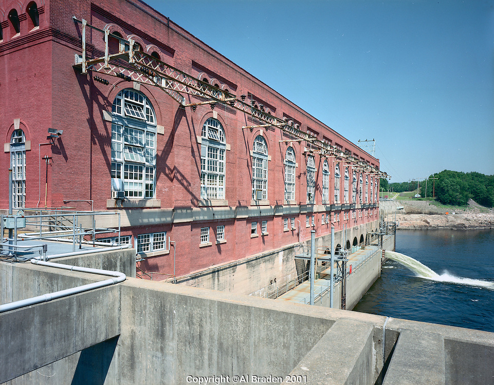 Vernon Dam, Front of Powerhouse on the Connecticut River at Vernon, VT