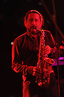 Tommy LaBella playing the saxophone at the Stone Pony in Asbury Park. / Photo by Russ DeSantis Photography and Video, LLC