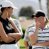 Michelle Wie playing as an amateur at the Kraft Nabisco Championship, the first major for the LPGA, in March, 2005. Wie, only 15, is expected to dominate the women's professional tour in the future and is looking at millions of dollars in endorsements when she turns pro. After the tournament with fellow amateur Morgan Pressel