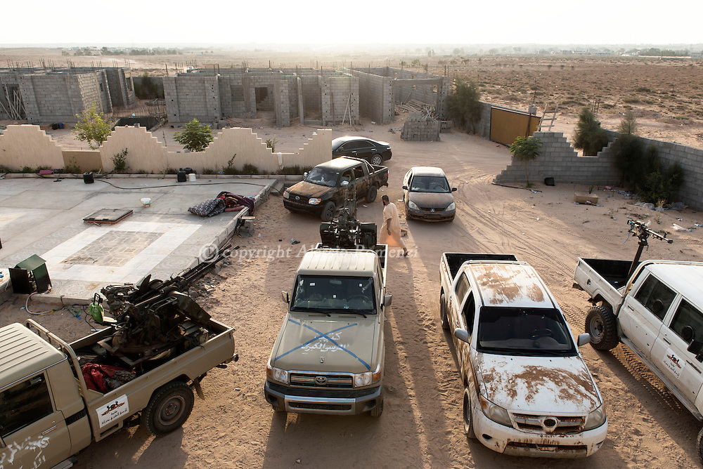 Libya: Military base of forces sympathising with Libya's Government of National Accord's (GNA) in 700 neighbourhood in Sirte. Alessio Romenzi