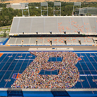 B on the Blue, Bronco Welcome, Carrie Quinney photo