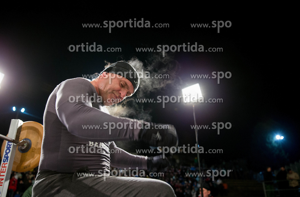06.01.2012, Stadium Bezigrad, Ljubljana, SLO, EBEL, HDD Telemach Olimpija Ljubljana vs KHL Medvescak Zagreb 39. Runde, in picture  bodybuilder Darko Prusnik during the Erste Bank Ice Hockey League in 39th Round match between HDD Telemach Olimpija Ljubljana and KHL Medvescak Zagreb at the open ice winter classic Stadium Bezigrad, Ljubljana, Slovenia on 2013/01/06. (Photo By Vid Ponikvar / Sportida.com)