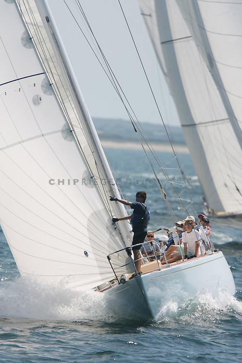 RO6C9991. Nantucket, MA, USA. ©2009 Chip Riegel / www.chipriegel.com. 08/16/2009. Sailed in near perfect conditions, the 38th annual Opera House Cup brought a spectacular end to the 2009 Nantucket Race Week. The nine-day Race Week features sailboats of all sizes, competitors of all ages, and is a benefit for the local, non-profit Nantucket Community Sailing.