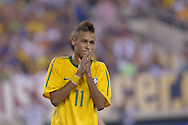 EAST RUTHERFORD, USA - August 10, 2010 : Meadowlands Stadium: Neymar during his first game for Brazil National Team, when he scored his first goal with BNT jersey.  (Photo:Caio Guatelli)