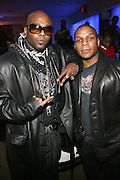 "Treach and Vin Rock( Naughty By Nature) at "" The P. Diddy presents Bad Boy Entertainment Night "" at Spotlight NYC featuring performances by Cherri Dennis and Vanity Kane on January 29, 2008"