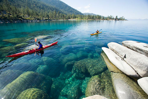 Image result for Images of Lake Tahoe Kayaking