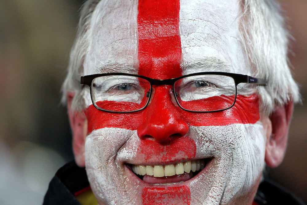 England fan against France in their Rugby World Cup quarter-final match at Eden Park, Auckland,  New Zealand, Saturday, October 08, 2011. Credit:SNPA / John Cowpland