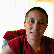 A nun at the Tibetan Nun's Project, Dharamsala, India. 7/25/05.