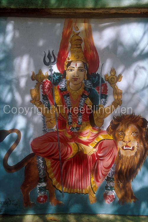 Roadside shrine to Goddess Kali...Jaffna Penisula...