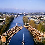 AA00020-02...WASHINGTON - A 1982 photo of the Fremont Bridge on the Lake Washington Ship Cannel in Seattle.