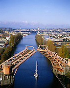 AA00020-02...WASHINGTON - A 1982 photo of the Fremont Bridge on the Lake Washington Ship Cannel in Seattle.