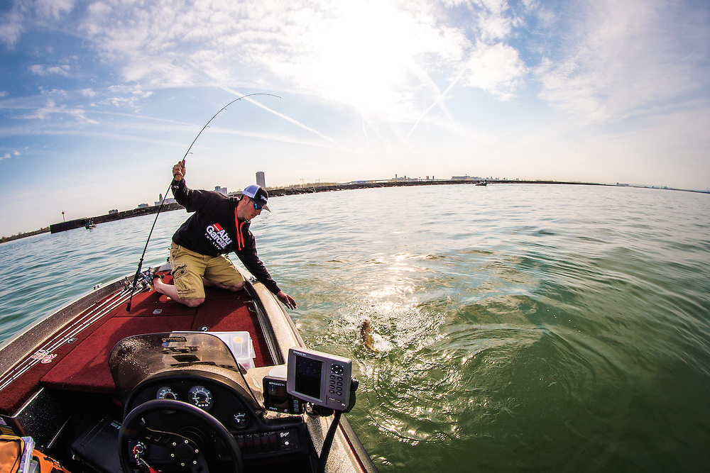 Bass fishing photography