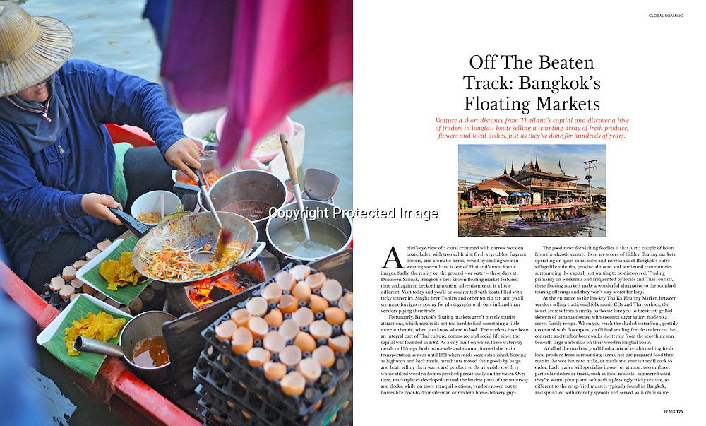 Feast Magazine (Australia) feature on Bangkok's floating markets.