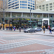2017 MARCH 05 - Intersection of 4th Ave and Pine Street, Seattle, WA, USA. By Richard Walker