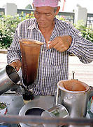 Selling ice coffee