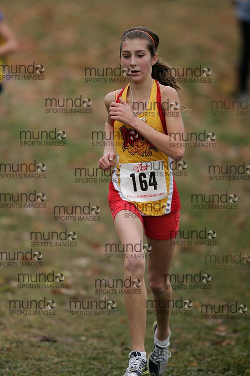 King City, Ontario ---09-11-15--- Katey Codyre of the Durham Dragons competes at the Athletics Ontario Cross Country Championships in King City, Ontario, November 16, 2009..GEOFF ROBINS Mundo Sport Images