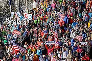 SHOT 12/4/15 11:58:06 AM - US skiing fans cheer on American skier Marco Sullivan as he races at the 2015 Audi Birds of Prey Downhill at Beaver Creek Ski Resort in Beaver Creek, Co. Birds of Prey is the only men's Audi FIS Ski World Cup stop in the United States. (Photo by Marc Piscotty / © 2015)