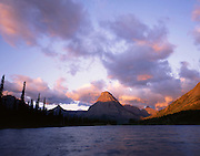 AA02172-01...MONTANA - Sunrise on Sinopah Mountain at Two Medicine Lake in Glacier National Park.
