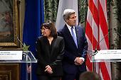 Paris Attacks, John Kerry and Anne Hidalgo meeting