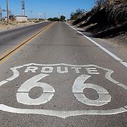 Route 66 near Oro Grande, California. .A trip through parts of Route 66 from Southern California to Arizona.