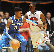 "Kentucky's Nerlens Noel (3) works against Mississippi's Reginald Buckner (23) at the C.M. ""Tad"" Smith Coliseum on Tuesday, January 29, 2013.  (AP Photo/Oxford Eagle, Bruce Newman).."