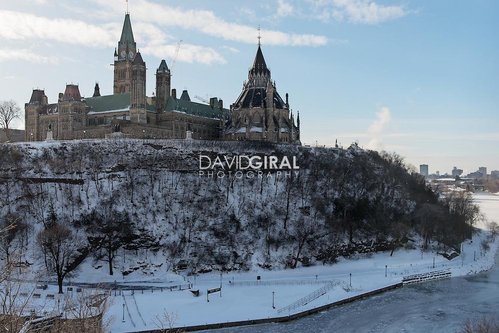 Parliament Hill viewed from near Fairmount Chateau Laurier, Wellington Street, Ottawa