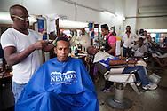 Youth , boy at airdresser -Havana, Cuba