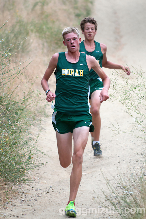 Borah junior Ruben Mulhern on a downhill section during the 2011 Camelsback Invitational at Boise, ID on August 27, 2011. Mulhern was Borah's top finisher placing ninth with a time of 17:41.