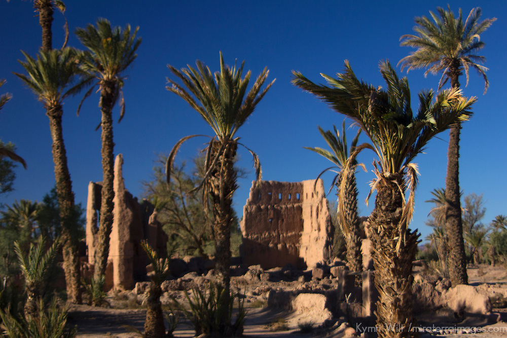 Africa, Morocco, Skoura. Kasbah ruins near Skoura.
