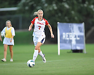 Ole Miss' Bethany Bunker (7) vs. Texas Tech at the Ole Miss Soccer Stadium in Oxford, Miss. on Sunday, September 2, 2012.