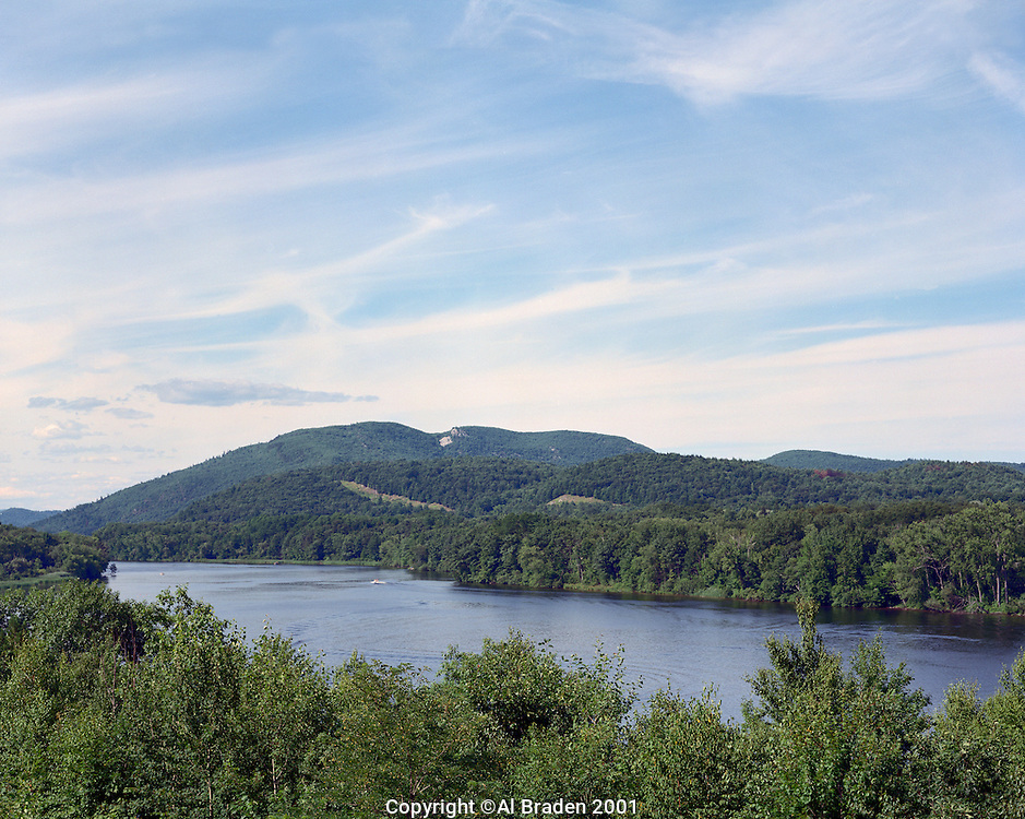 Connecticut River, looking north in summer from Rt. 142, Vernon, VT
