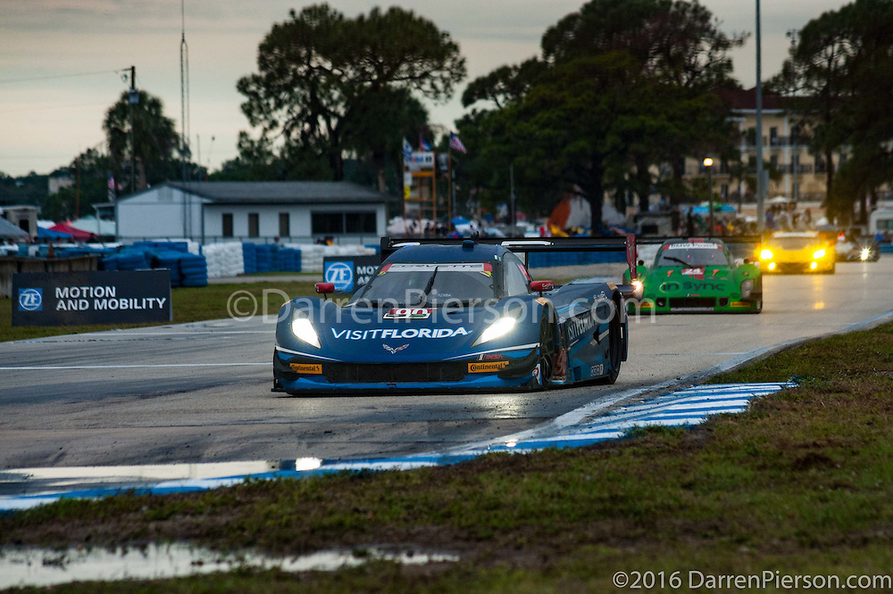 #90 VisitFlorida.com Racing Corvette DP: Ryan Dalziel, Marc Goossens, Ryan Hunter-Reay