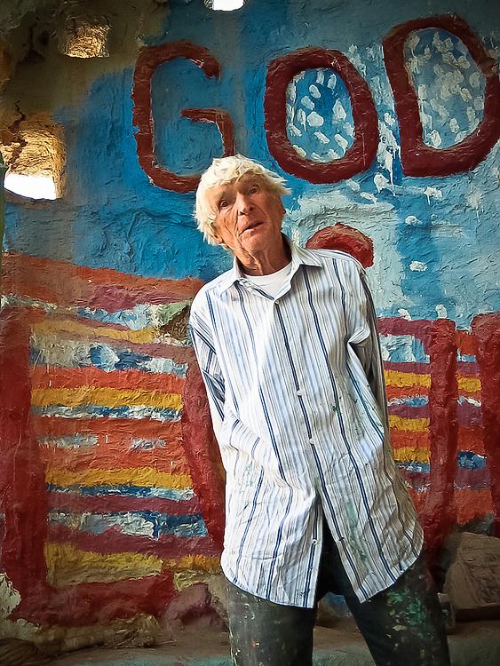 """Leonard Knight Salvation Mountain """"God is love"""""""